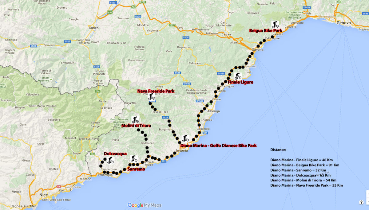 Bike Parks in Riviera Ligure